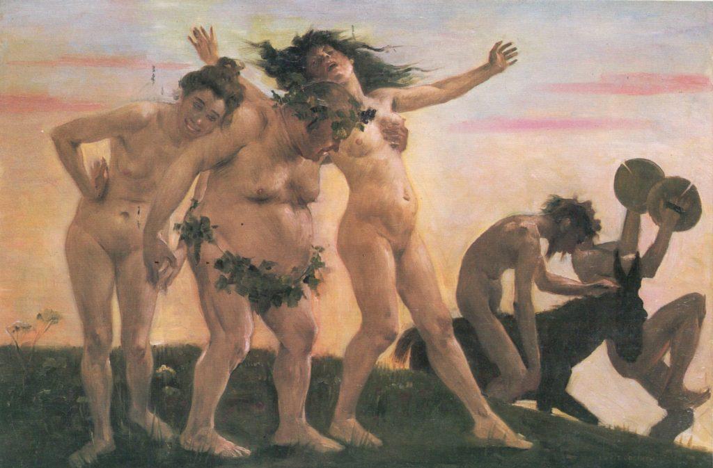 Eski Yunan ve Roma tanrılarından Dionysos (Diyonisos), eğlence tanrısı olarak bilinir. Zeus'un da oğlu olarak anlatılan Dionysos, genellikle şarap, kadınlar ve seks partileriyle resmedilir. Keyifçi adammış vesselam...